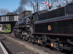 Ready to go (neil.bulman) Tags: station train norfolk railway historic steam locomotive sheringham steamtrain northnorfolkrailway britishrailways northnorfolk 76084 standard4 locomotivecompany