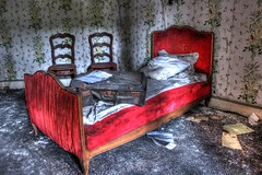 I have to go... (urban requiem) Tags: old red urban france abandoned lost rouge hotel bed bedroom chairs decay room zimmer lit exploration chambre derelict hdr chaises verlassen valise urbex abandonn rdb relais 600d hotelrelais hotelrdb