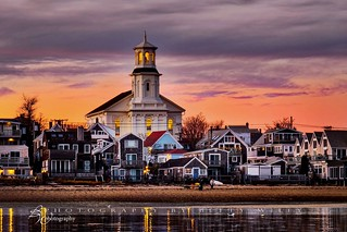 Winter evening in Provincetown