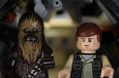Easy with a copilot (hachiroku24) Tags: face up toy star miniature ship close lego cockpit millennium solo falcon wars han wookie chewbacca moc afol