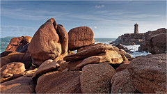 Phare de Men Ruz (guillaumez.wix.com/photographie) Tags: ocean beach rose rocks bretagne olympus breizh granite perros cote paysage britany ploumanach guirec oceanscape em5