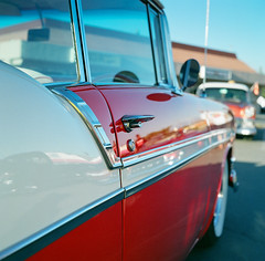 Classic (AndreasGarcia) Tags: color 120 6x6 tlr belair film car analog rolleiflex mediumformat photography classiccar dof bokeh depthoffield chevy carshow cruisenight fujipro400h