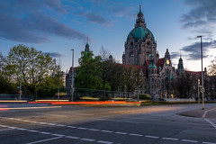 the beginning of the blue hour (Max_D.) Tags: city blue sky canon germany deutschland eos town hall long exposure saxony sigma hannover historic hour lower rathaus niedersachsen 760d