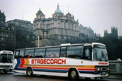 Early Stages (georgeupstairs) Tags: bus wet rain volvo coach edinburgh saloon stagecoach paramount plaxton b10m a800tgg waverelybridge
