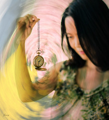 When Time Flies. Happy B' Day! (Janey Song) Tags: birthday flowers portrait people woman lady tulips watch pocketwatch selfie ef85mmf12liiusm omot whentimeflies canon5dmarkiii