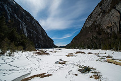 Adirondacks (Jordan Salkin) Tags: blue winter sky lake snow newyork nature photography photo interesting scenery pretty photographer hiking awesome trails like upstate scene adirondacks photographic hike follow photograph blueskies likes photooftheday followme 2016 avalanchelake avalance