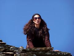 Ikarian Ridge Walk Dec 18 15 (angeloska) Tags: smile kiss december ikaria aegean ridge greece hiker prettygirl hikingtrails   atheras scenictrail freespaces transikariantrail  opsikarias