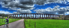 Digswell Viaduct (nigdawphotography) Tags: travel train cyclist trains viaduct cycle hertfordshire herts welwyn welwyngardencity digswellviaduct
