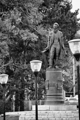 Shishkin Lighting (r_a_d_i_c_h) Tags: building monument memorial artist russia outdoor painter russian  denkmal knstler standbild   shishkin kunstmaler  porusski  elabuga  yelabuga