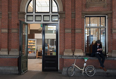 waiting (=Mirjam=) Tags: windows station bicycle architecture waiting april 2016 denhaaghs nikond750 52in2016