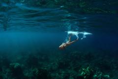 Mermaid (sowenderful) Tags: ocean blue water swimming swim hawaii underwater snorkel under dive diving maui snorkeling mermaid float select kaanapali underwaterphotography