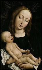 Virgin Mary with Child Jesus // by Rogier van der Weyden (mike catalonian) Tags: religious virginmary flanders vanderweyden portraitpainting childjesus xvcentury