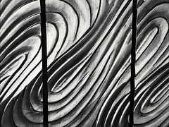 A wrinkle in time (Thad Zajdowicz) Tags: california blackandwhite bw white abstract black texture monochrome lines pattern curves cellphone highcontrast diagonal turbo motorola existinglight pasadena minimalism droid photoshopexpress zajdowicz