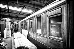 Kirby Stephen East Station . (wayman2011) Tags: uk bw mono transport trains cumbria canon5d railways dales pennines workshops stations lightroom wayman2011