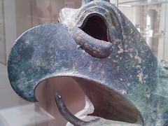 The Bronze Scream of a Griffin (failing_angel) Tags: usa newyork manhattan 5thavenue griffin metropolitanmuseumofart bronzehead 290515 votivegift bronzecauldron