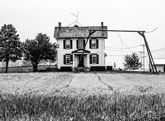 luv it! only in the country (-gregg-) Tags: trees bw house field country
