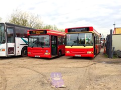 Been A While.. A LDP Next To a DP! Bear sisters LDP110 & DP1029 posing in depot! (kizmanbusesco) Tags: bear red 2 bus buses allison pointer wheels pride clean depot dennis dart cummins railreplacement bexleyheath trims 2016 plaxton dualdoor exmetroline ldp110 s110egk ddacompliant brentfordgarage exgoahead oddworking kp02pvn dp1029