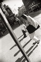 AA009 2 (heavyasmountains) Tags: nyc newyorkcity blackandwhite slr film 35mm photography nikon candid streetphotography noflash 24mm fm3a filmphotography streetstyle