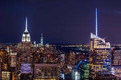 The City (z2llsnoopy) Tags: city nyc urban ny newyork building night skyscraper lights cityscape nightshot manhattan empire empirestate nightview