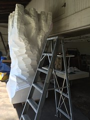 Styrofoam tree further along IMG_0985 (ForestPath) Tags: white tree home barn fan big garage carving ladder styrofoam sculpting learningasigo hotwiretools plentyofmistakes