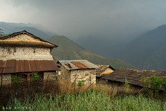 Ghandruk, Annapurna, Nepal (SamKent22) Tags: travel nepal house mountain storm rural landscape outdoors asia village traditional hills annapurna gurkha ghandruk