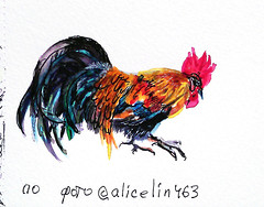 1523 ( ) Tags: birds ink watercolor fountainpen 365 sketches platinum
