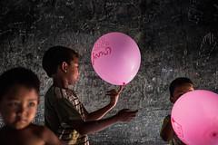 Myanmar // Mingun, Sagaing Region - Balloons inside the bell (Christian Clowes) Tags: street kids balloons children nikon asia bell burma balloon streetphotography myanmar mingun hsipaw d810