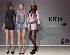 KITJA - Rebeca Outfit (ᴋɪᴛᴊᴀ) Tags: life original fashion mesh lara second physique hourglass fitted maitreya slink kitja
