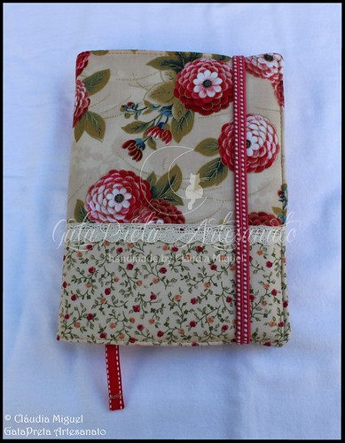 "Capa de agenda A5 ""Red Chrysanthemum"""