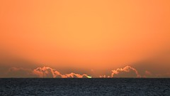 See the Green Flash? (Chuck H. - PhotosbyMCH (I'm back)) Tags: ocean sunset sky usa seascape beach clouds canon hawaii oahu outdoor pacificocean 7d goldenhour koolina greenflash 2013 photosbymch ulualagoon