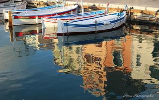 Reflet dans le port de Cassis