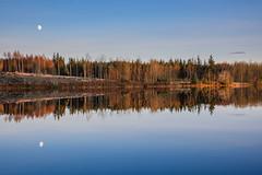 Loch Rusky (Sarah-86) Tags: moon reflection water scotland loch lochrusky