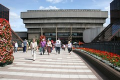 The Old Library (Heaven`s Gate (John)) Tags: flowers england art architecture modern concrete birmingham outdoor library central pedestrians elevation brutalist domolition 10faves johndalkin heavensgatejohn johnmadin