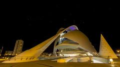 Remember the good Vader / Recordando un buen Vader (Hornisterol) Tags: valencia arquitectura ciudad enero estrellas nocturna artes ciencias 2016 futurista manueljrrega