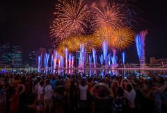 Marina Bay Singapore Countdown 2016 (BP Chua) Tags: city travel people urban tourism night river landscape nikon singapore fireworks firework tourist celebration countdown handphone marinabay greatphotographers marinabaysingapore d800e
