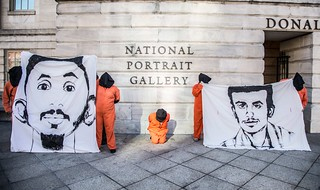 Guantánamo Detainee Faces Outside the National Portrait Gallery