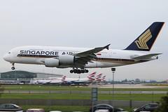 Singapore Airlines - Airbus A380-841 9V-SKP @ London Heathrow (Shaun Grist) Tags: london airport heathrow aircraft aviation airline airbus a380 sia aeroplanes lhr singaporeairlines londonheathrow egll avgeek 9vskp