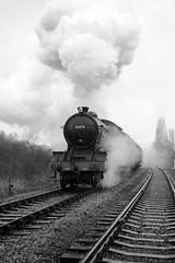 NVR 42281bw (kgvuk) Tags: trains locomotive railways 440 steamtrain steamlocomotive morayshire nvr nenevalleyrailway ortonmere d49 62712