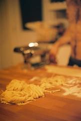 Fresh Pasta (Rachael.Robinson) Tags: winter canada color film 35mm island pasta fresh fujifilm spaghetti maker campobello