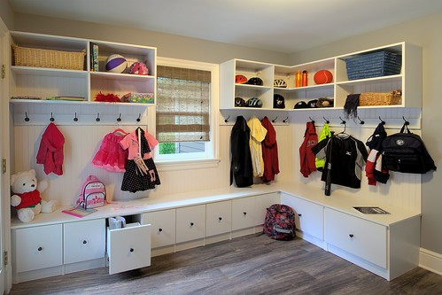 Built In Mudroom Storage Cabinets Charlotte NC