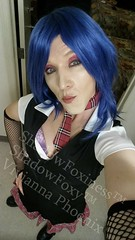 Schoolgirl Punk 78 (ShadowFoxiness) Tags: punk feminine cd crossdressing tgirl transgender schoolgirl bluehair crossdresser crossdress tg