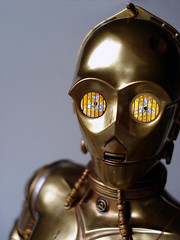 The Golden Droid (Getoninja) Tags: scale star r2d2 figure 16 wars sideshow c3po protocol