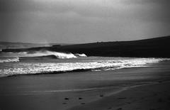 Storm (Lady Grey 2 17 mod) (AngusInShetland) Tags: sea storm beach analog 35mm scotland lomography waves gale spray analogue ricoh shetland kr10 netherton levenwick canoscan5600f ladygrey400