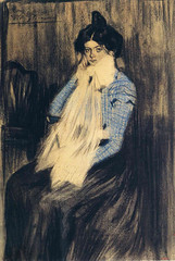 Pablo Picasso  Portrait of Lola, the artists sister, 1899. sassypants has *way* better places to be (ArtAppreciated) Tags: family b portrait art history face fashion female century portraits painting early drawing sister fineart pablo blogs attitude picasso portraiture artists bitch end impressionism late faves years resting figurative 19th pleased 1890s sassypants artblogs tumblr artoftheday artofdarkness date1899 artappreciated artofdarknessco artofdarknessblog