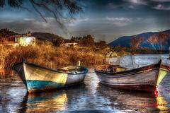 GÖLMARMARA TURKEY (SONER DİKER) Tags: trip travel lake reflection turkey boat cloudy outdoor türkiye sandal yansıma turkei seyahat manisa gölü bulutlu gölmarmara
