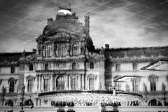 Dark Side (Calinore) Tags: city blackandwhite paris france reflection museum architecture photographie noiretblanc louvre du muse reflet extrieur ville fra contemporainart collectionparticulire franaisart xxiesicle