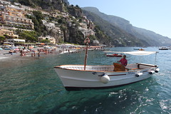 Private Boat (Fionn Luk) Tags: trip travel summer vacation italy beach water canon landscape boat europe mediterranean ship view august scene adventure explore positano 5d luk fionn thefootprintdiary