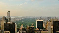 CitySpire Center, One 57, Solow Building, Central Park, Sunset, View from Top of the Rock, New York, U.S.A. (Fco. Javier Cid) Tags: sunset usa newyork centralpark solowbuilding viewfromtopoftherock cityspirecenter one57