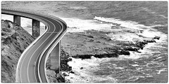 Cyclists (Jo Langtry) Tags: ocean beach water clouds sunrise rocks nsw 2016 canon70300f456 coalcliff canon5diii seacliffbridgefeb2016
