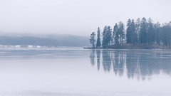 Bogstad lake, Oslo, Norway. (Bhalalhaika) Tags: winter mist lake ice nature rain oslo norway fog landscape tranquil beautyful bogstad bogstadvannet matsanda bhalalhaika